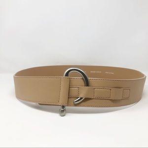 J. Jill Tan Leather Hook Belt Silver XL